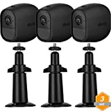 Gejoy Adjustable Metal Security Mount Outdoor Indoor Bracket and Silicone Cover Skins Protective Case for Arlo Pro, Arlo Pro 2 Wireless Camera, 3 Set (Black)