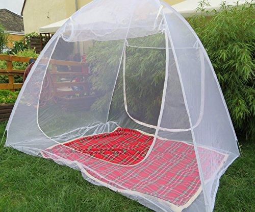 S/O® Moskitonetz mobil 200x150x148cm Mückenschutznetz Baldachin Insektenschutz Fliegengitter Mückennetz Betthimmel Pop up Zelt
