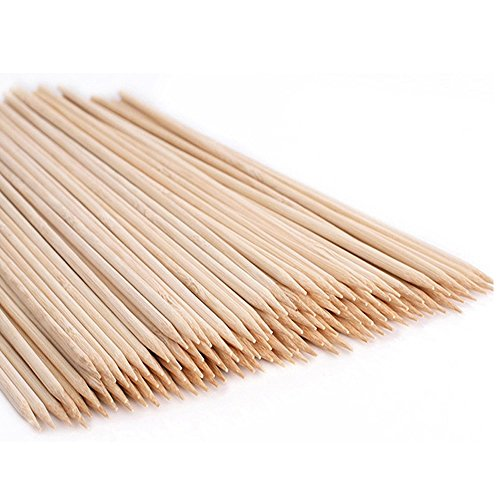 - Bamboo Skewers with Quick Barbecue Kabob Skewer Maker, 300 PCS 6 Inch Long - 100% Natural Barbecue Skewers BBQ Bamboo Sticks for Grill, Beef, Meat, Appetizer, Fruit, Corn and More Food