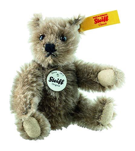 (Steiff Classic 1950 Teddy Bear 10cm Brown Mohair)