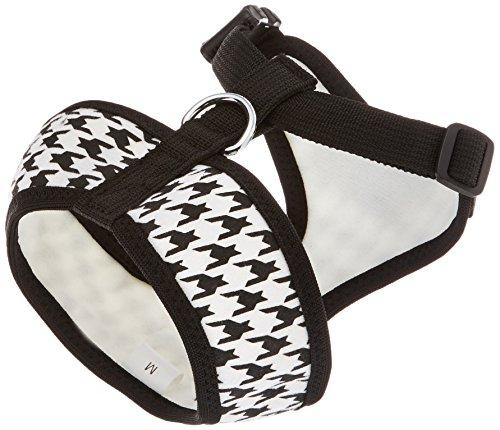 Parisian Pet Freedom Dog Harness, Medium, Black - Houndstooth Dog Harness