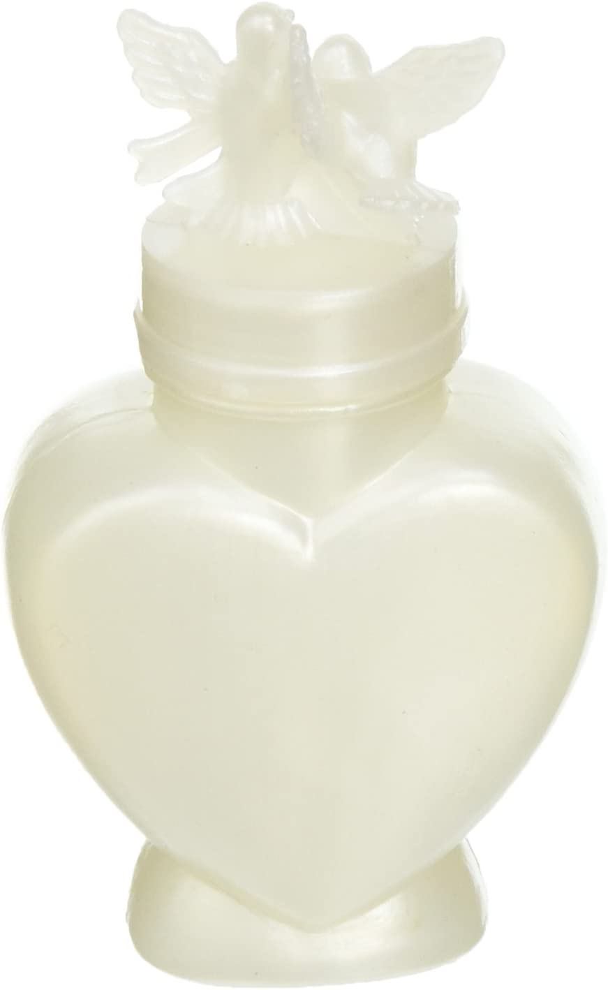 Darice Heart Shaped Bottle Wedding Bubbles – Perfect Way to Greet The Newly Married Couple – Great Wedding Favors – Safe for The Environment – Fun for Guests of All Ages, 24 Pieces Per Pack