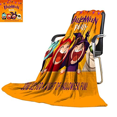 (UGG Throw blanketflannel Throw blanketHalloween Party Group of Kids in Halloween Costume with Big Signboard 2)