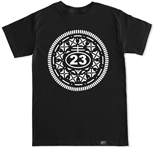 FTD Apparel Men's Oreo Retro 5 V black T shirt-XXL Black
