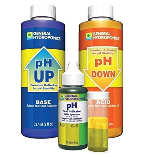 1-Set Matchless Popular GH pH Control Water Test Kit Accurate General Adjustment Combo Up and Down Volume 8 oz with 1 oz Indicator