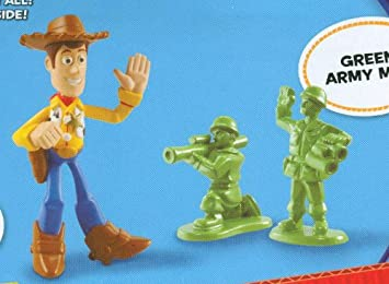 Toy Story 3 Buddy Packs - Waving Woody and Green Army Men: Amazon ...