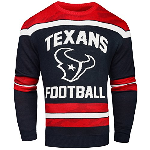 FOCO Houston Texans Ugly Glow in The Dark Sweater - Mens - Mens Double Extra Large by FOCO