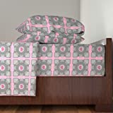 Roostery Portal 4pc Sheet Set Companion Cube by Princess Sewnsew Queen Sheet Set made with