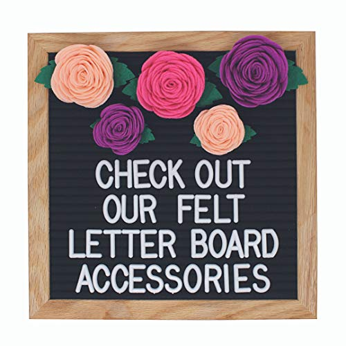 Felt Letter Board Accessories (The Girly) – Letter Board Flower Decorations Perfect for Baby Photo Props and Party Decor Works with All Changeable Message and Letterboards! (Accessory Kit Only!) ()
