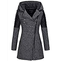 Womens Coat SOMESHINE Clothes Autumn Winter Warm Thick Zipper Slim Jacket Parka Overcoat Outwear Hooded Tops Sweatshirt