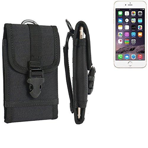 Gürteltasche / Holster für Apple iPhone 6s, schwarz | extrem robuste Handyhülle Smarpthone Schutz Tasche Hülle outdoor / camping case - K-S-Trade(TM)