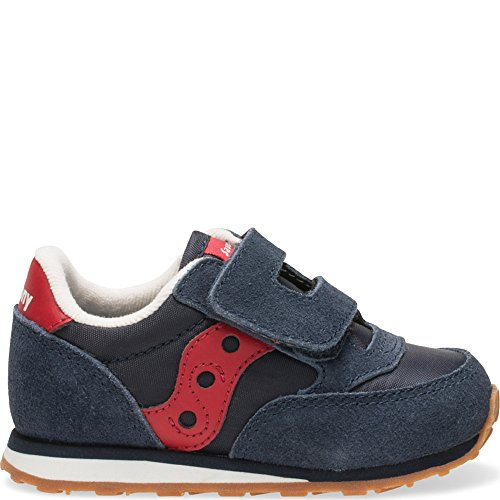 Saucony Jazz Hook & Loop Sneaker (Toddler/Little Kid), Navy/Red, 5 M US Toddler