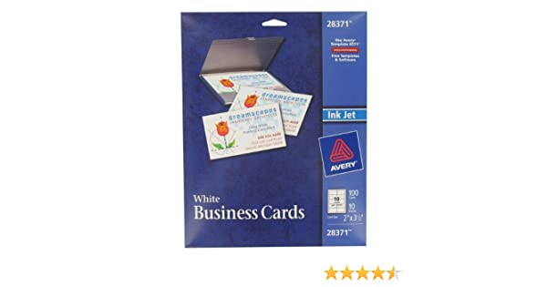 Amazon avery 28371 white ink jet printer business cards 100 amazon avery 28371 white ink jet printer business cards 100 count business card stock office products fbccfo Choice Image
