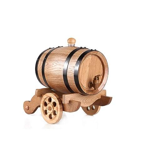 HQCC Barriles de Roble Vintage, Almacenamiento de licores de elaboración Propia, dispensador de Cerveza