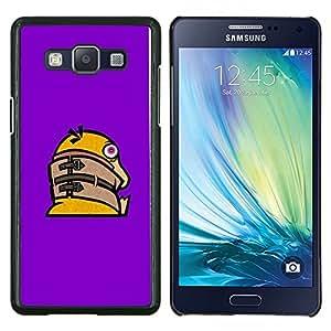 TECHCASE---Cubierta de la caja de protección para la piel dura ** Samsung Galaxy A5 ( A5000 ) 2014 Version ** --Divertido Crazy Duck