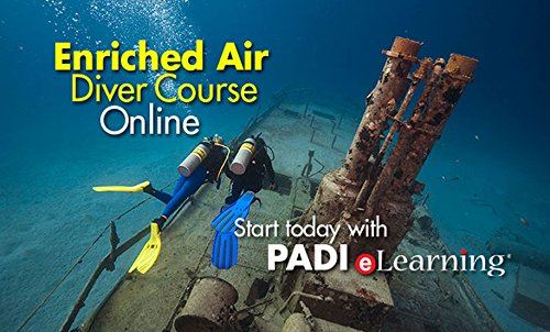 PADI Online Enriched Air Diver Course Scuba Diving eLearning Nitrox Certification On Line Classroom Dive Books ()