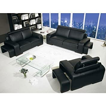 Salerno Sofa Suite 3 2 1 Seaters Mit 2 X Hocker Amazon De