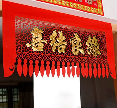 Chris-Wang 4Pcs Mixed Traditional Chinese Wedding Banquet Golden - Chinese Wedding Decorations
