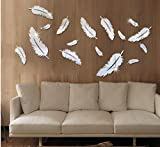 Description : 3D Multi-color Feather Silver DIY Shape Mirror Wall Stickers Home Wall Bedroom Office Decor 3D Mirror effect wall sticker fashion silver acrylic home decor removable. You can DIY what you like.Only 1mm thick plastic mirror, light but...