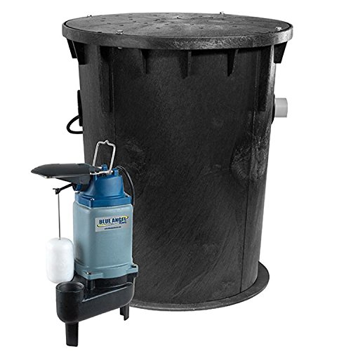 Blue Angel Pumps F50SWSS Job-Ready Outdoor Sewage Package System by Blue Angel Pumps