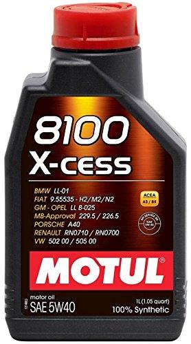Aceite Motul 8100 X-Cess 5W40, 100 % sintético, 1 litro: Amazon.es: Amazon.es