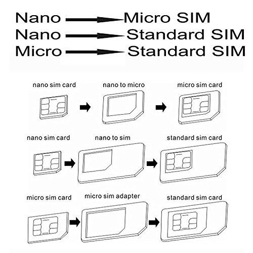 Sim Card Adapter Kit Converter Includes Nano Sim Adapter, Micro Simcard Adapter, Needle, Plastic Storage Sheet (Black) by Gilumza (Image #1)