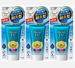Biore UV Aqua Rich Watery Essence 2017 SPF50+/PA++++ (Pack of 3)