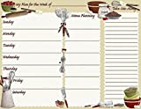 Menu Planning Notepad and Grocery Shopping List Magnetic Paper for Fridge 50 Sheets
