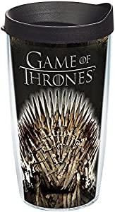 Tervis 1243472 HBO Game of Thrones - Iron Throne Insulated Travel Tumbler with Wrap & Lid, 16 oz - Tritan, Clear