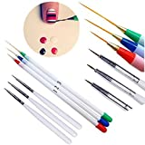LXBIN Set 6Pcs/Pack Fine Drawing Striping Liner Design Tips Nail Art Pen Brushes Brush Salon DIY Gel UV Manicure Tool gifts Multicolor