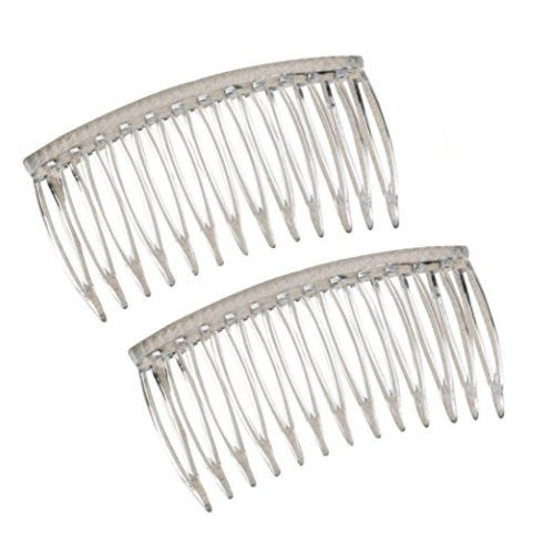 Good Hair Days The Original Grip-Tuth Hair Combs, Set of 2, 40817 Clear 3 1/4