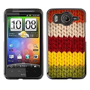 TopCaseStore / la caja del caucho duro de la cubierta de protección de la piel - Red Greeen Winter Warm Sweater - HTC G10
