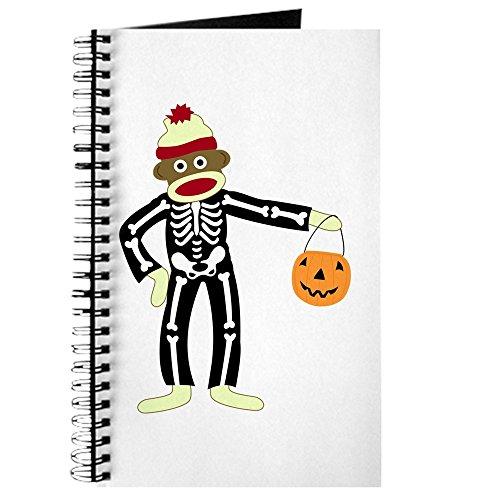 (CafePress - Sock Monkey Halloween Journal - Spiral Bound Journal Notebook, Personal Diary,)