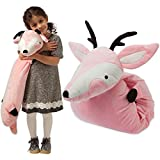 Manhattan Toy Cute Plush Stuffed Animal Deer Snuggle Sleep Toy for Kids, Pink