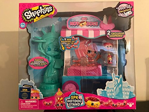 Spk Grill - Hotdogs Get Your Yummy Hotdogs Here! Shopkins Season 8 MP Playset USA SPK Hotdogs Includes 4 Super Cute Mini Shopkins To Spin On The Grill!