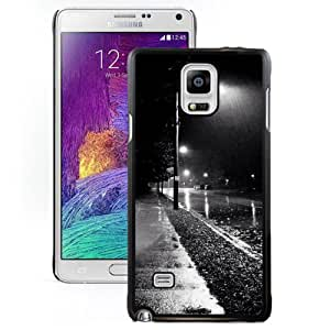NEW DIY Unique Designed Samsung Galaxy Note 4 Phone Case For Rainy Street Night Phone Case Cover