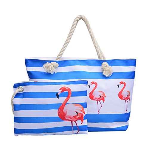 Casual Clutch Aediea Shopping Set Handbags 2pcs Canvas 2 Beach Women Sling Composite 8rrwqEfU