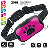 Dog Bark Collar (NEW UPGRADE 2018) | No Bark Training Collar | Humane & Super Effective Anti Bark Control Device (ALL Vibration, NO Shock) | Stop Barking Collar w/ 6 Color Face Plates | (M to L Dogs) For Sale