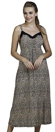 Mystique Intimates Women's Savannah Leopard Print Nightgown (Savannah Leopard)