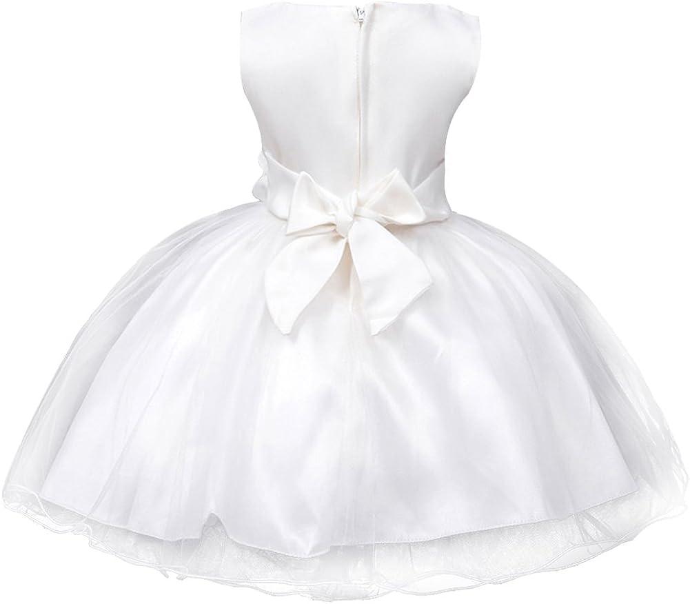 Enfant Fille Paillette Fête Fleur Robe de Cérémonie Mariage Bal Banquet Tulle
