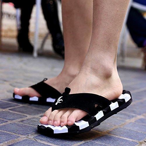 Xing Lin Sandalias De Hombre Verano Indoor Casual Sandalias Y Zapatillas Para Hombres Sandalias Slip Sandalias De Marea De Masaje white