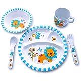Culina® Kids Plate and Bowl Melamine Dinnerware- Lion. Set of 5