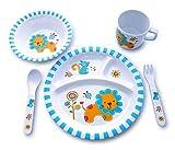 microwaveable cups for kids - Culina Kids Melamine Dinnerware - Lion. Set of 5