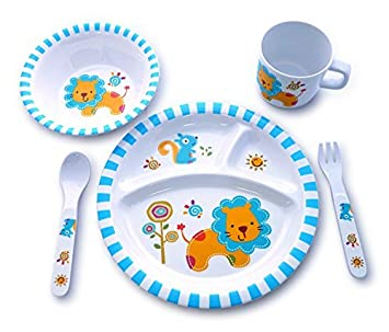 Culina Kids Melamine Dinnerware - Lion. Set of 5  sc 1 st  Amazon.com & Amazon.com: Culina Kids Melamine Dinnerware - Lion. Set of 5: Baby