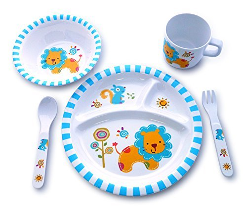 Culina Kids Melamine Dinnerware - Lion. Set of 5 ()