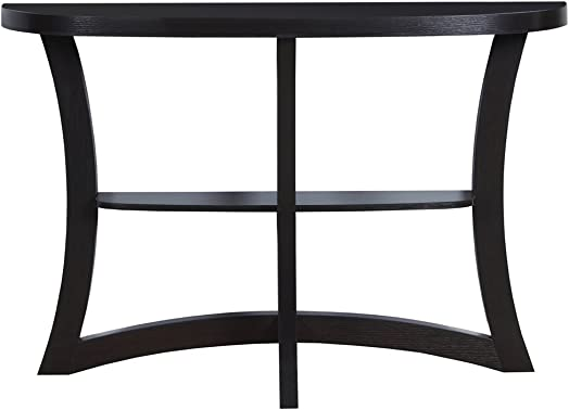 Monarch Two Tier Hall Console Accent Table, 47 , Cappuccino