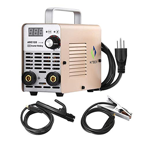 ARC WELDER ARC120 DC Stick 220V MMA Inverter Welding Machine Mini Portable Style 2.5mm Rod Stick Welder with Accessaries Earth Clamp Electrode and - Clamp Earth