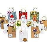 "Halulu(TM) Natural Kraft Paper Bags, Shopping Bags - Brown Merchandise Retail Bags - 8"" x 4.75"" x 10.5"" - 50pc"