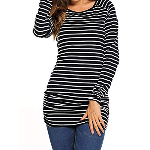 - Blouses for Womens, FORUU Christmas Thanksgiving Friday Monday Under 10 Womans Wear A Casual with A Round Striped and Long Sleeves