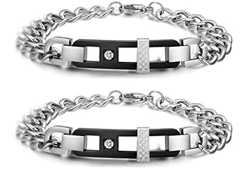 Gnzoe 2Pcs LGBT Homosexual Men Set Bracelet Bangle Stainless Steel Engraved